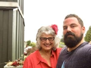 Vicki Robin and Grant Sabatier, Whidbey Island, Washington. August 2018