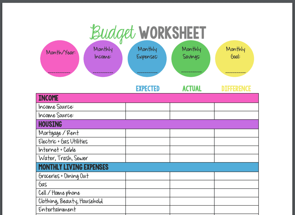 12 best budget templates tools spreadsheets pdfs. Black Bedroom Furniture Sets. Home Design Ideas