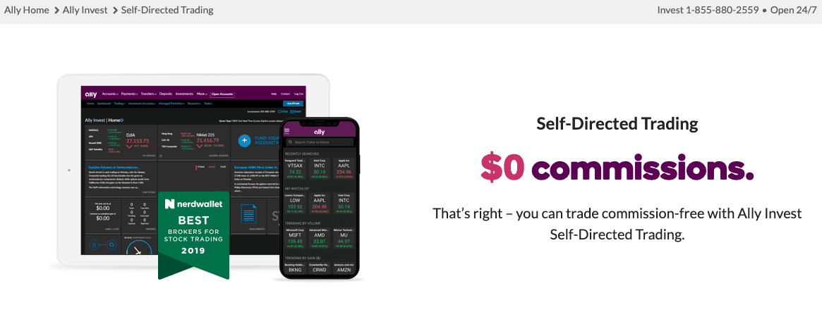 ally invest self directed trading