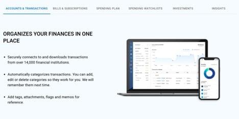 simplifi accounts and transactions